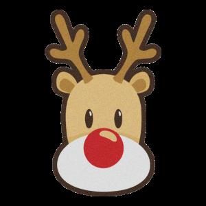 Süßes Rentier Logo