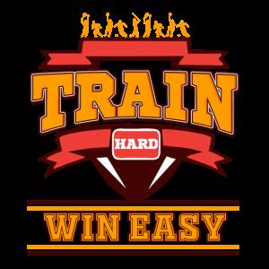 Train hard win easy Sportsmanship Discipline World