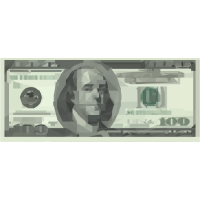 Money Low Poly Effekt Dollar Bill Geschankidee