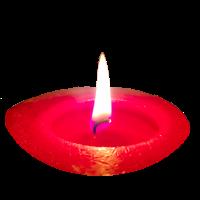 Kerze Rot