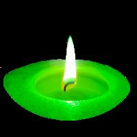 Kerze Grün