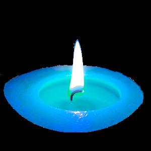 Kerze Blau