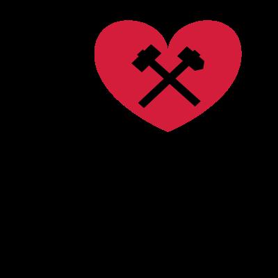 I love BO mit Rahmen - I LOVE BOCHUM -  Stofftasche  by Ruhrpott Clothing www.pott-clothing.de - ilovebo,Tief im Westen,Ruhrpott,Ruhrgebiet,Mein Revier ist hier,Glocke,Bochum,Bergbau Museum