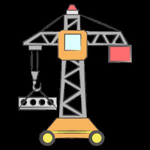 Kran Kinder Baustelle