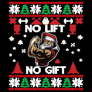 No Lift No Gift Fitness Weihnachten Geschenk Gym