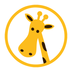 Giraffe Head Cartoon Icon