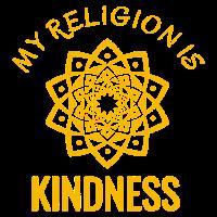 Meine Religion ist Freundlichkeits-T-Shirt