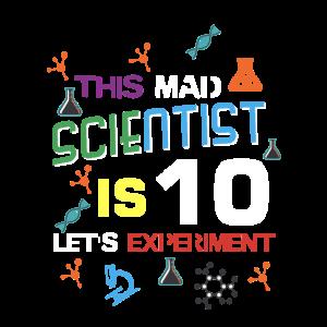 Wütender Wissenschaftler Shirt Geburtstag Wissenschaft Thema Party