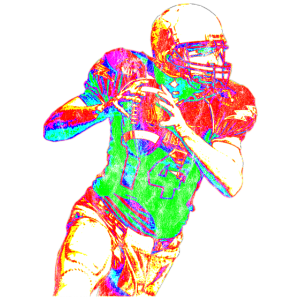 quarterback washed look Colorful Geschenkidee