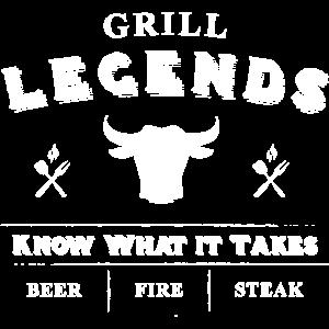 Grillen Legend BBQ Grillgeschenke Grillzubehör