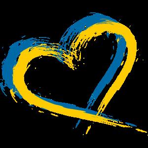 Herz Bürste Flagge Schweden Fahne Design Vektor