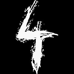 Nummer 4 zahl vier