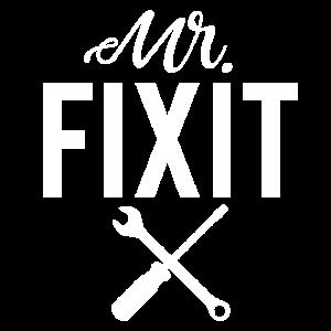 Mr Fixit Reparatur Defekt Werkzeug Werkstatt Shirt