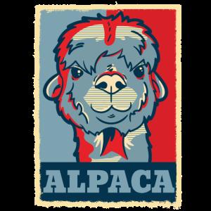 Alpaka Gesicht Lustig Retro Vintage Geschenk