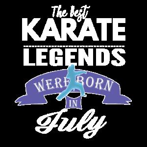 Karate-Legenden werden im Juli Mädchen geboren