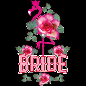 167 Flamingo Roses Bride Crown Pink