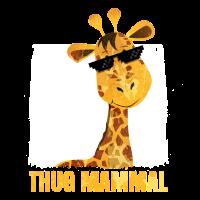 thug Giraffe Säugetier Geschenk Idee