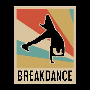 Breakdance Breakdancer Hip Hop Retro Look Geschenk