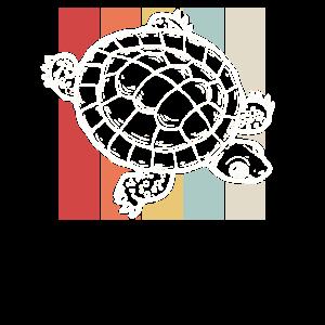 Retro Schildkröte Natur Tierliebhaber