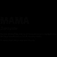 Wort Definition Mama Geschenk Idee