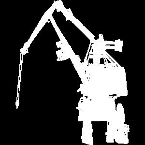 Hafenkran Silhouette Weiss