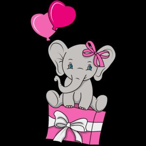 Baby Elefant Liebe Geschenk Geschenkidee