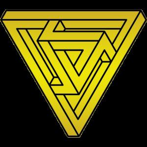 Optische Täuschung Dreieck