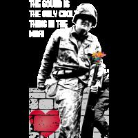 No War Make Love not war Soldat mit Blumen im Lauf