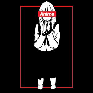Animegirl T-Shirt Kawaii Mädchen für Cosplayer