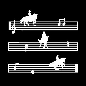 Dressurreiten Silhouette Pferd Reiter Kür Geschenk