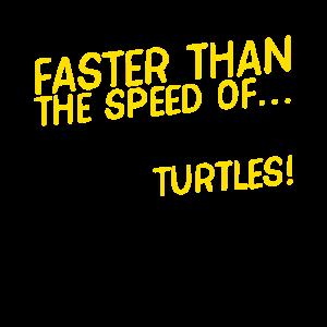 Schneller als die Geschwindigkeit von ...