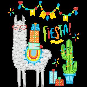Llama Fiesta Comic Alpaka Geschenk Geburtstag