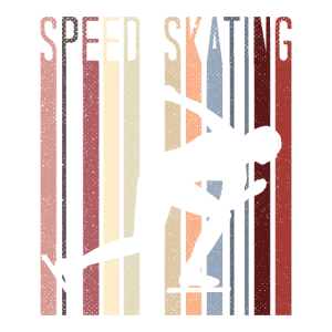 Speed Skating Retro 70s Vintage Speed Skater Gift