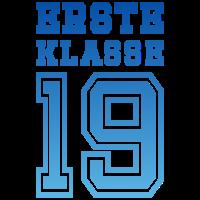 Erste Klasse 19 Einschulung Kind Schule 2019 blau