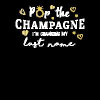 Bride Pop der Champagner Junggesellenabschied
