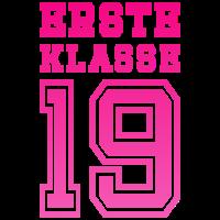 Erste Klasse 19 Einschulung Kind Schule 2019 pink