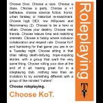 Choose KoT