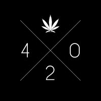 Cannabis 420 Hanfblatt Kreis Kiffer Geschenk