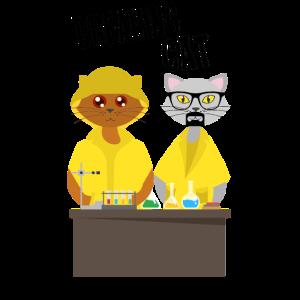 Kater Katze Serie Cat Chemie Meth Lustig