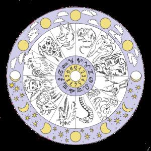 Chinesisches Horoskop Mandala