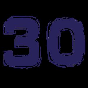 30. Geburtstag Jahre Geschenk Birthday Jubiläum
