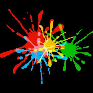 Farbspritzer, Farbkleckse, bunt, Farbe, fun