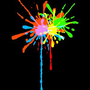 Farbspritzer, bunt, Farbkleckse, stylish, Farbe