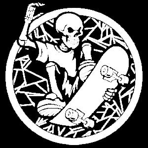 Skateboard Skelett
