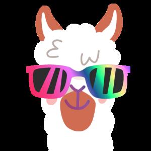 Lama, Alpaca, Sonnenbrille, Kopf, Geschenk, Peru