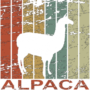 Alpaca retro - Lama, Peru, Spucken, Geschenk