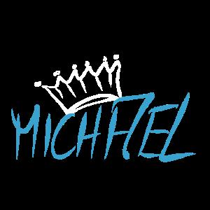 Krone Name Namensschild Michael