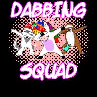 Dabbing Einhorn Faultier Husky Girl Squad Geschenk