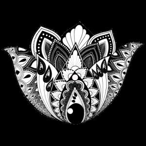 Lotusblume schwarzweiß KreativLoftWuppertal