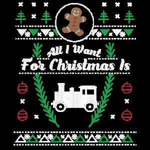 Toy Trains hässliches Weihnachtshemd